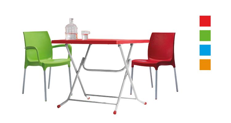 Renkli katlanır masa