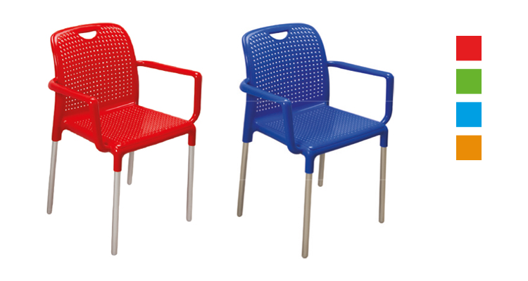 renkli delikli koltuk